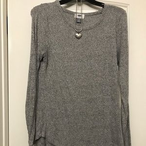 Stretchy and comfy gray sweater